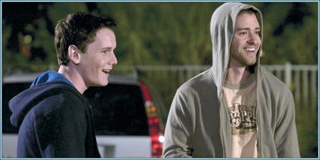Anton Yelchin y Justin Timberlake