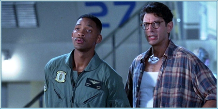 Will Smith y Jeff Goldblum