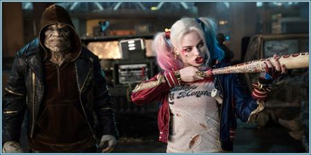 Adewale Akinnuoye-Agbaje y Margot Robbie son Killer Croc y Harley Quinn
