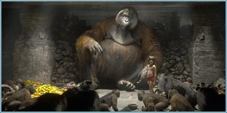 Rey Louie y Mowgli