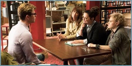 Chris Hemsworth, Kristen Wiig, Melissa McCarthy y Kate McKinnon