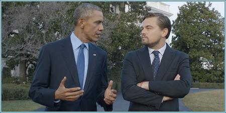 El Presidente Barack Obama y Leonardo DiCaprio