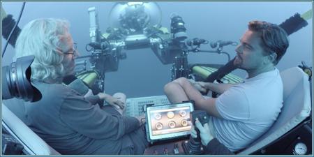 El ecologista marino Jeremy Jackson y Leonardo DiCaprio