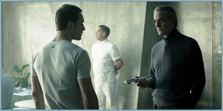 Michael Fassbender y Jeremy Irons