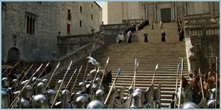 Escalinata de la Catedral de Santa María (Gerona)