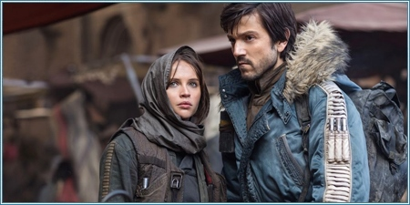 Felicity Jones y Diego Luna