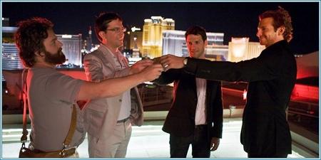 Zach Galifianakis, Ed Helms, Justin Bartha y Bradley Cooper