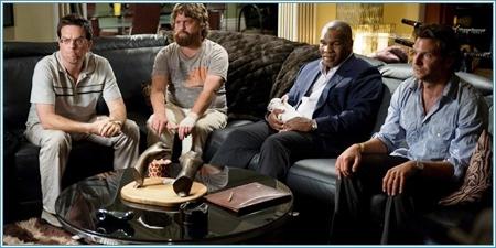 Ed Helms, Zach Galifianakis, Mike Tyson y Bradley Cooper