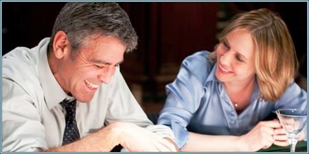 George Clooney y Vera Farmiga