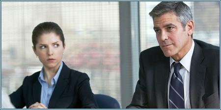 Anna Kendrick y George Clooney