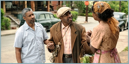 Denzel Washington, Mykelti Williamson y Viola Davis