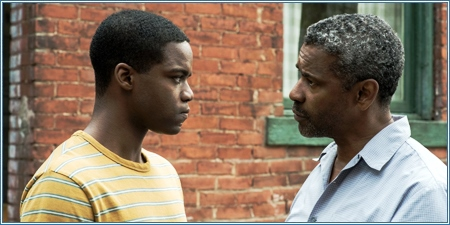 Jovan Adepo y Denzel Washington