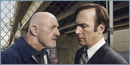 Jonathan Banks y Bob Odenkirk son Mike y Jimmy