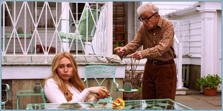 Miley Cyrus y Woody Allen