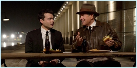 Alden Ehrenreich y Warren Beatty