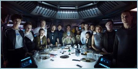 """La tripulación de la nave """"Covenant"""""""