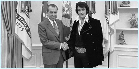 Nixon y Presley en el Despacho Oval el 21 de diciembre de 1970