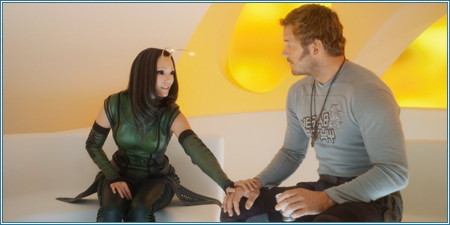 Pom Klementieff y Chris Pratt son Mantis y Peter