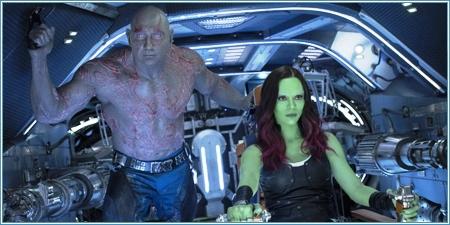 Dave Bautista y Zoë Saldana son Drax y Gamora