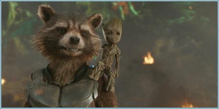 Rocket y bebé Groot