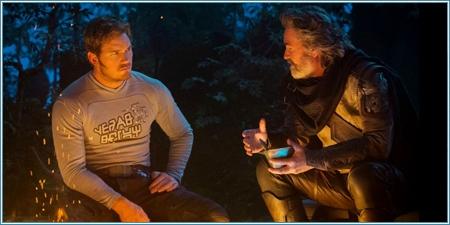 Chris Pratt y Kurt Russell son Peter y Ego