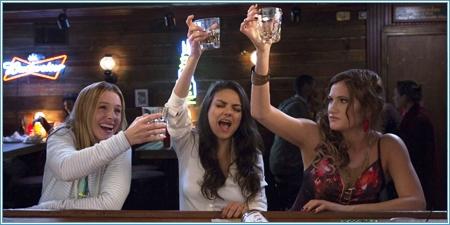 Kristen Bell, Mila Kunis y Kathryn Hahn