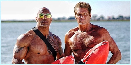Dwayne Johnson y David Hasselhoff