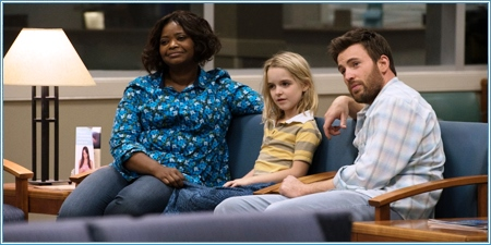Octavia Spencer, Mckenna Grace y Chris Evans