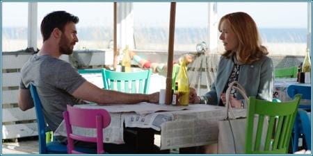 Chris Evans y Lindsay Duncan