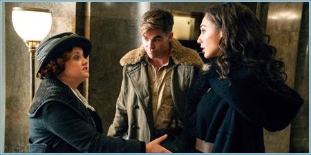 Lucy Davis, Chris Pine y Gal Gadot