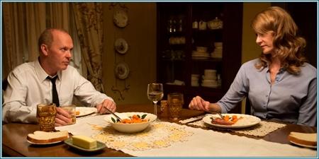 Michael Keaton y Laura Dern